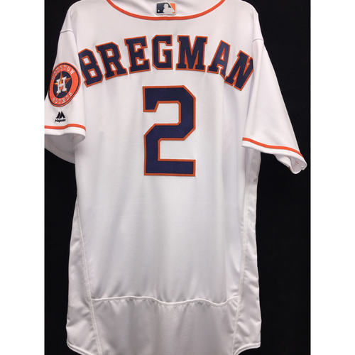 Photo of Team-Issued 2016 Alex Bregman Home White Jersey