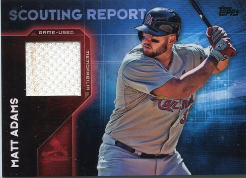 Photo of 2016 Topps Scouting Report Relics #SRRMA Matt Adams