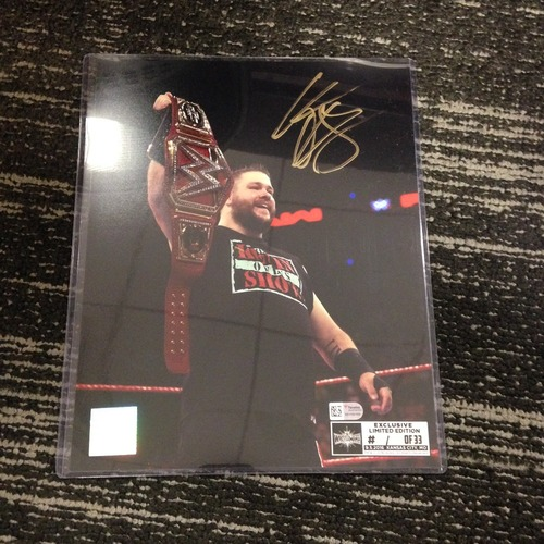 Photo of Kevin Owens SIGNED 8 x 10 Limited Edition WrestleMania 33 Photo (#1 of 33)