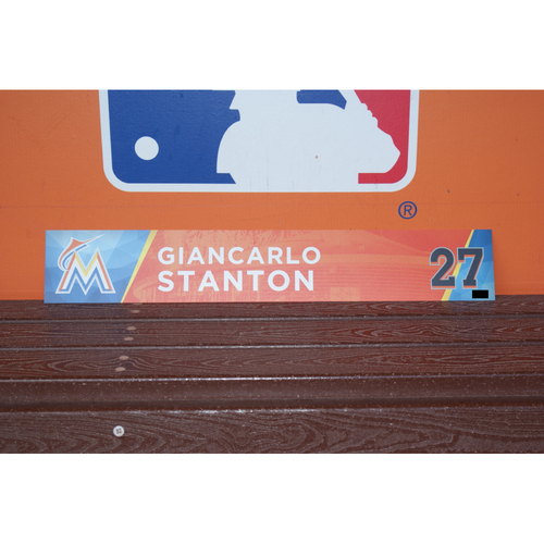 Photo of Giancarlo Stanton Home Opener Locker Tag