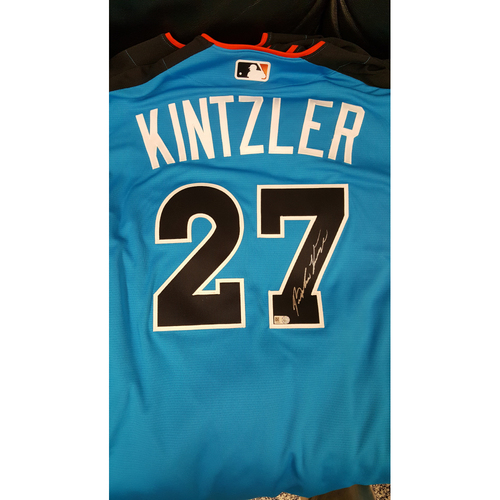 Photo of Brandon Kintzler 2017 Major League Baseball Workout Day/Home Run Derby Autographed Jersey