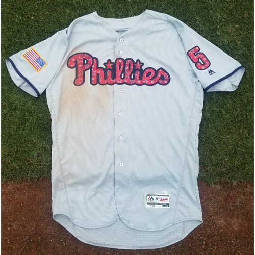 Photo of 2017 Game-Used Stars & Stripes Road Nick Williams Jersey