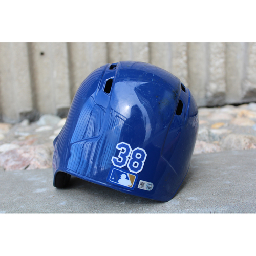 Photo of Game-Used Helmet: Jorge Bonifacio (Size 7 3/8 - ARI at KC - 10/1/17)