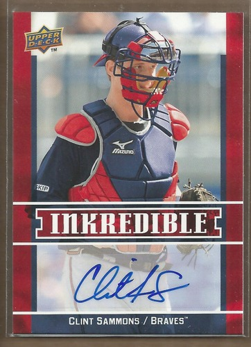 Photo of 2009 Upper Deck Inkredible #CS Clint Sammons S2