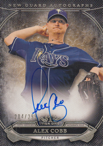 Photo of 2015 Topps Tier One New Guard Autographs #NGAACB Alex Cobb/299