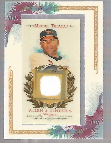 Photo of 2007 Topps Allen and Ginter Relics #MT Miguel Tejada J
