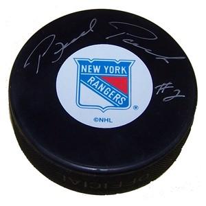 Brad Park Autographed New York Rangers Puck