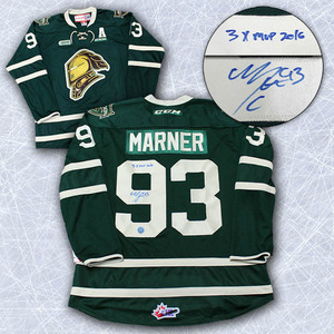 Mitch Marner London Knights Autographed Reebok Hockey Jersey with 3 x MVP Note *Toronto Maple Leafs*