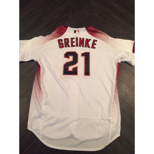 Photo of Zack Greinke 2,000th Strikeout Game-Used Jersey