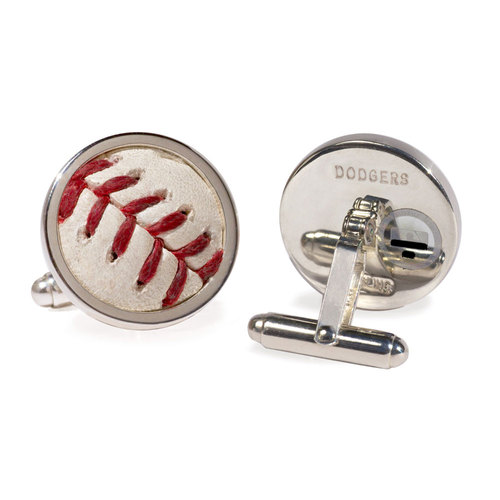 Photo of Tokens & Icons Los Angeles Dodgers Game-Used Baseball Cuff Links