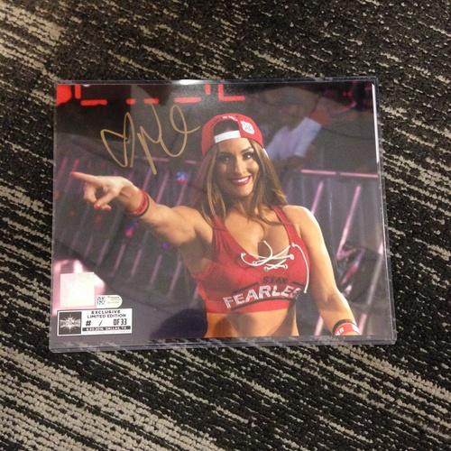 Photo of Nikki Bella SIGNED 8 x 10 Limited Edition WrestleMania 33 Photo (#1 of 33)