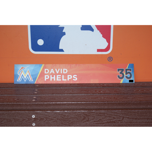Photo of David Phelps Home Opener Locker Tag