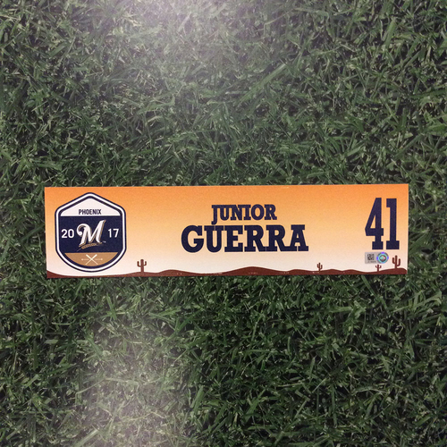 Photo of Junior Guerra 2017 Spring Training Locker Nameplate