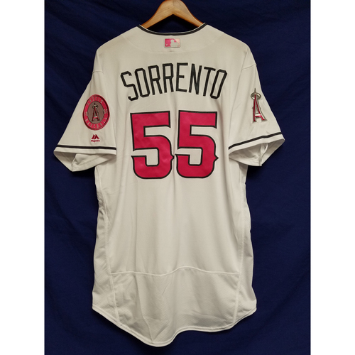 Photo of Paul Sorrento Game-Used Home Mother's Day Jersey