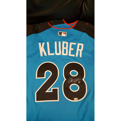 Photo of Corey Kluber 2017 Major League Baseball Workout Day/Home Run Derby Autographed Jersey
