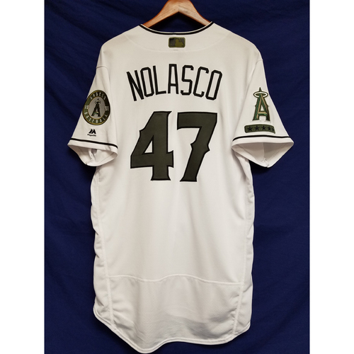 Photo of Ricky Nolasco 2017 Game-Used Home Memorial Day Jersey
