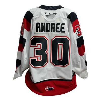 #30 Cedrick Andree 67s Game Work Home Jersey