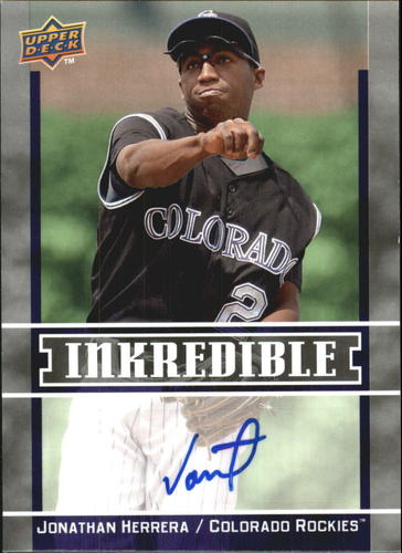 Photo of 2009 Upper Deck Inkredible #HE Jonathan Herrera S2