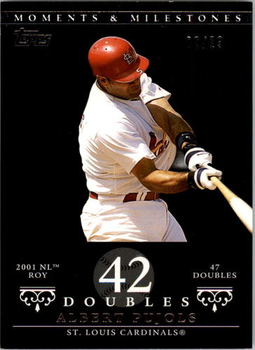Photo of 2007 Topps Moments and Milestones Black #5-42 Albert Pujols/2B 42