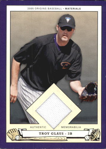 Photo of 2005 Origins Materials Jersey #GL Troy Glaus