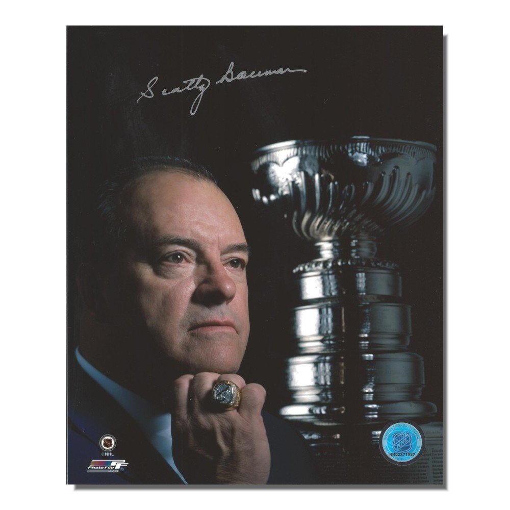Scotty Bowman Autographed Detroit Red Wings 8x10 Photo