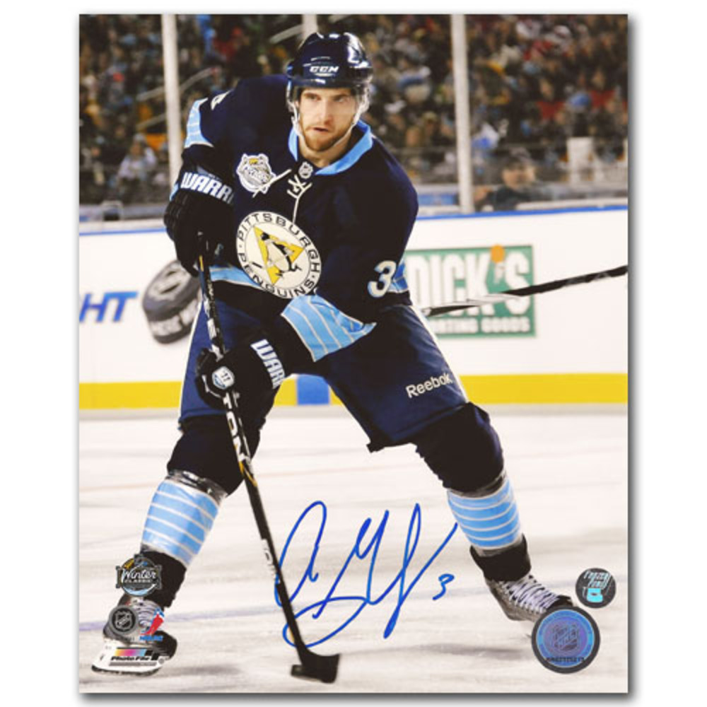Alex Goligoski Autographed 2011 NHL Winter Classic 8X10 Photo (Pittsburgh Penguins vs. Washington Capitals)