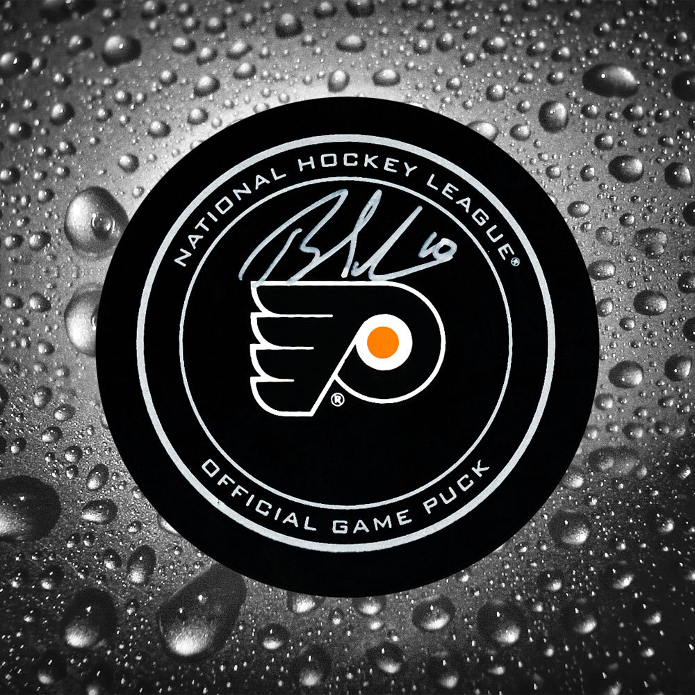 Brayden Schenn Philadelphia Flyers Autographed Official Game Puck