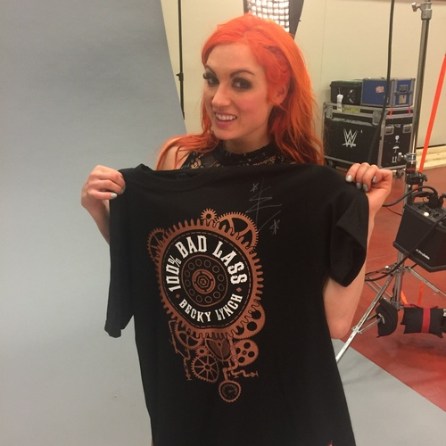 Photo of Becky Lynch SIGNED Authentic T-Shirt (Size: Large)