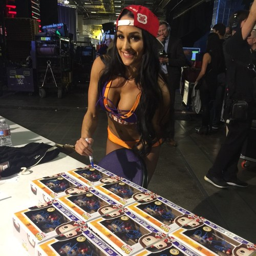 Nikki & Brie Bella SIGNED POP! Vinyl Figures