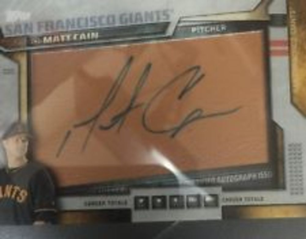 2016 Topps Team Glove Leather Autographs #GLAMC Matt Cain S2