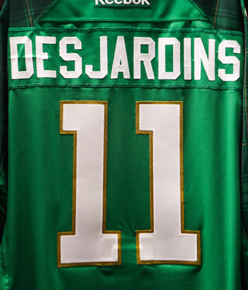 #11 - Andrew Desjardins Autographed Authentic St. Patrick's Day Jersey