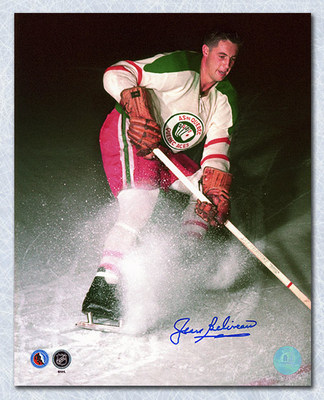 Jean Beliveau Quebec Aces Autographed 8x10 Photo