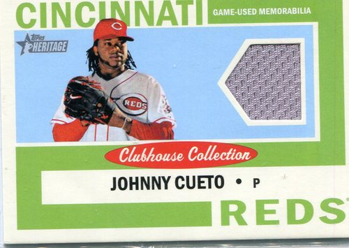 Photo of 2013 Topps Heritage Clubhouse Collection Relics #JC Johnny Cueto