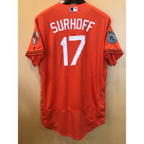 Photo of B.J. Surhoff - 2017 Spring Training Jersey: Team-Issued