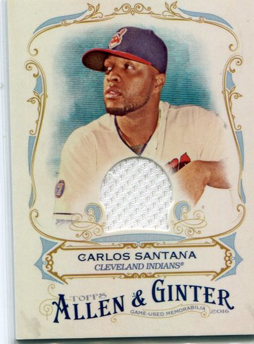 Photo of 2016 Topps Allen and Ginter Relics Carlos Santana -- Indians post-season