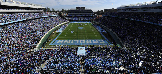 NORTH CAROLINA TAR HEELS FOOTBALL GAME: 11/3 CAROLINA VS. GEORGIA TECH (2 STADIUM ...