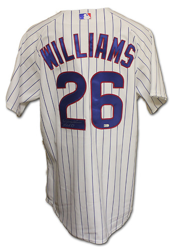 Photo of Billy Williams Autographed Jersey