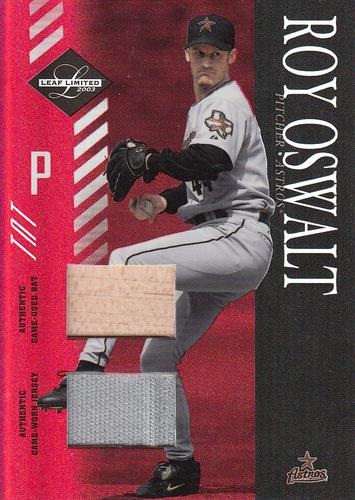 Photo of 2003 Leaf Limited TNT #114 Roy Oswalt H Bat-Jsy