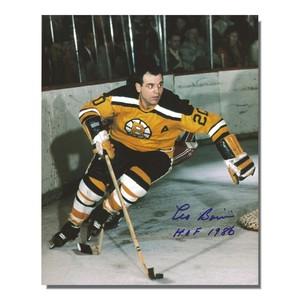 Leo Boivin Autographed Boston Bruins 8x10 Photo