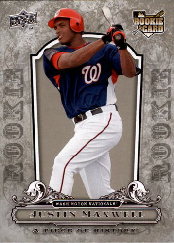 Photo of 2008 UD A Piece of History #150 Justin Maxwell RC