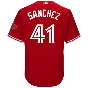 Toronto Blue Jays Cool Base Replica Aaron Sanchez Alternate Red Jersey by Majestic