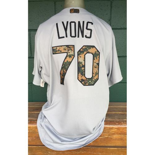 Photo of Cardinals Authentics: Tyler Lyons Game Worn Memorial Day Jersey