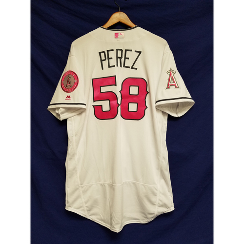 Photo of Carlos Perez Team-Issued Home Mother's Day Jersey