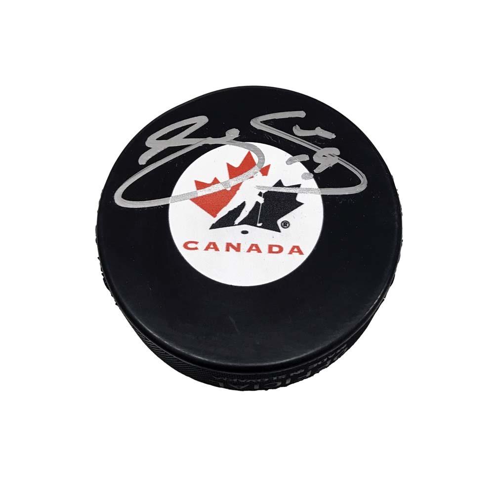 JOE SAKIC Signed Team Canada Puck - Colorado Avalanche