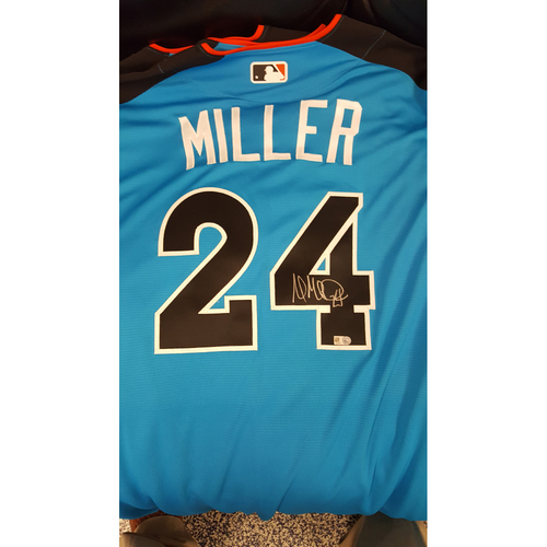Photo of Andrew Miller 2017 Major League Baseball Workout Day/Home Run Derby Autographed Jersey