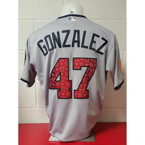 Photo of Game-Used Jersey: Gio Gonzalez - Jersey Size 44