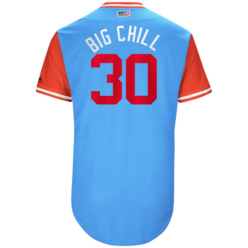 "Photo of Nomar ""Big Chill"" Mazara Texas Rangers Game-Used Players Weekend Jersey"