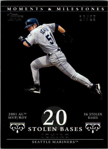 Photo of 2007 Topps Moments and Milestones Black #9-20 Ichiro Suzuki/SB 20