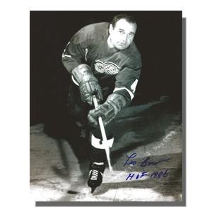 Leo Boivin Autographed Detroit Red Wings 8x10 Photo