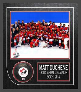 Matt Duchene - Signed & Framed - Team Canada Puck